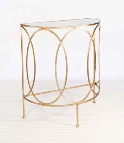Half Circle Side Table Metal Console Table Console Table