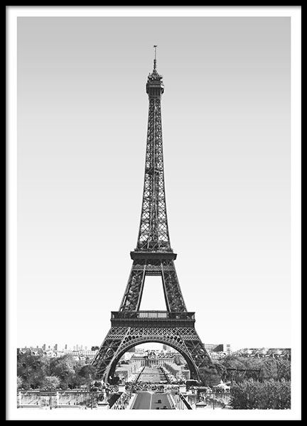 Print with a photo of the Eiffel Tower in Paris. A nice and Stylish poster for anything from your living room to your bedroom. www.desenio.com