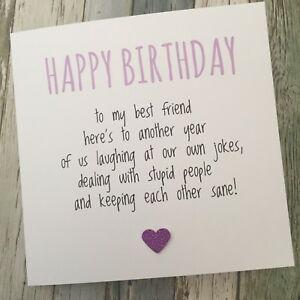 FUNNY BEST FRIEND BIRTHDAY CARD/ BESTIE / HUMOUR/ FUN / SARCASM - Another YPP   eBay