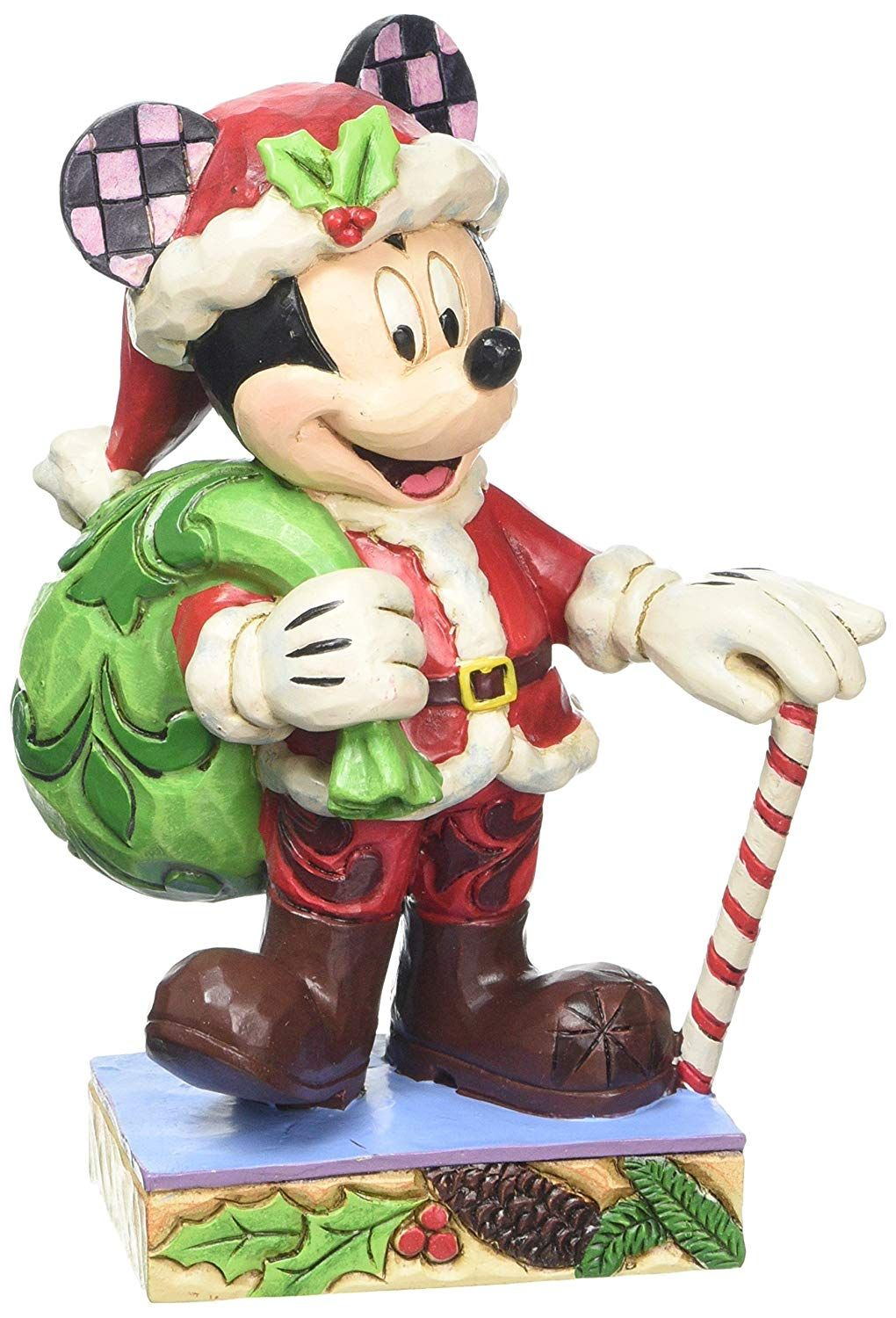 Disney Traditions Holiday Cheer Mickey Mouse Figurine Amazon Co Uk