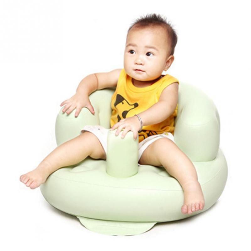 Baby Inflatable Sofa Bath Seat Dining Chair Baby Portable Beach ...