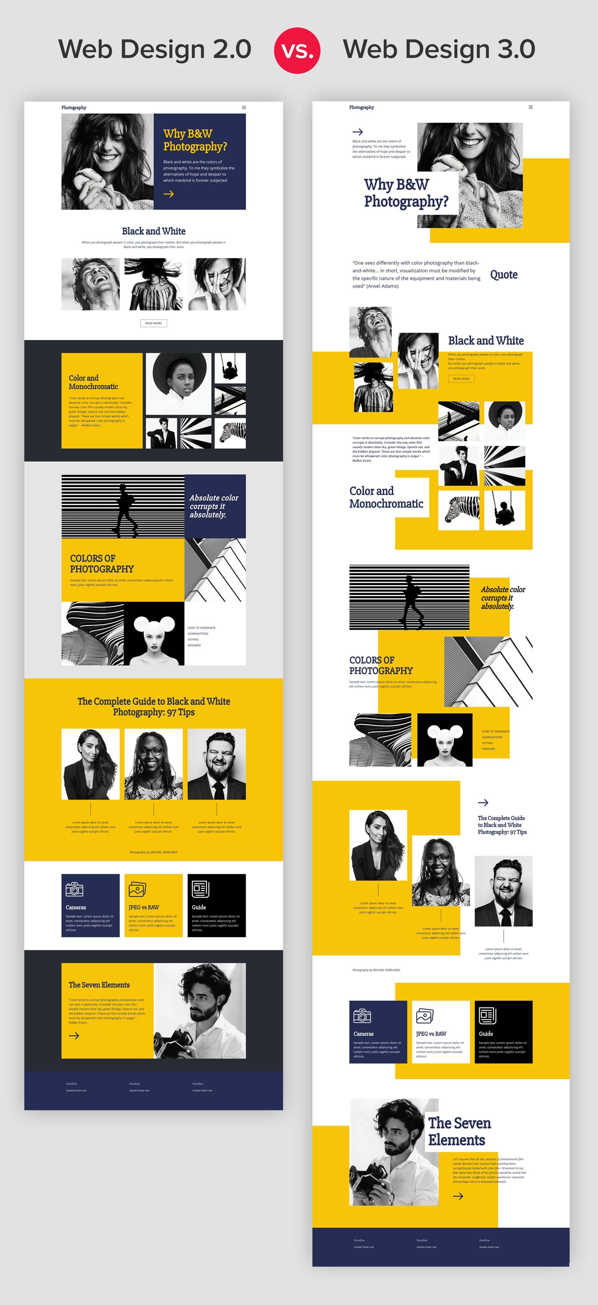 Web Design 2 0 Vs 3 0 Web Development Design Modern Web Design Web Layout Design