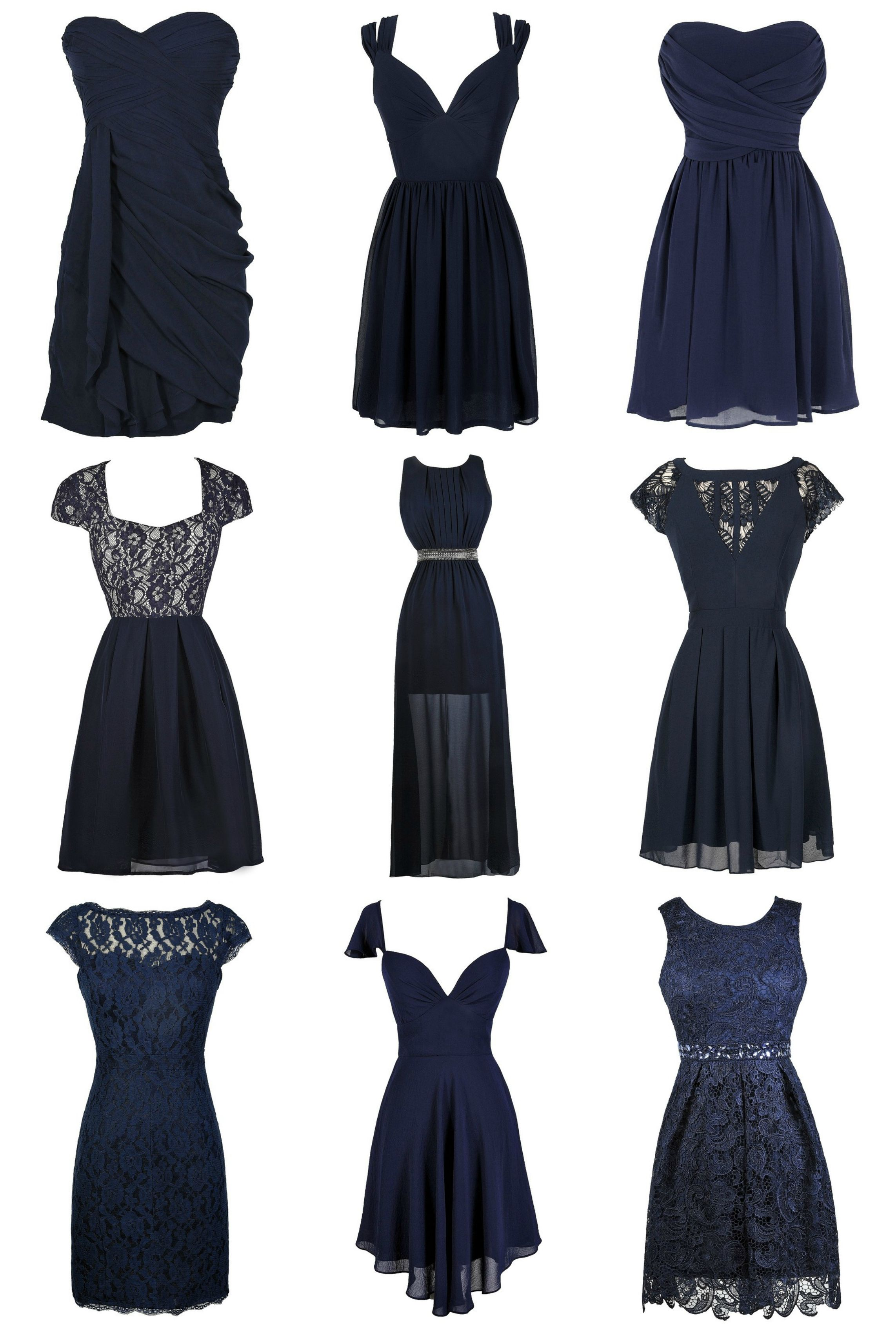 Lily Boutique ~ Gorgeous navy blue bridesmaid dresses at www ...