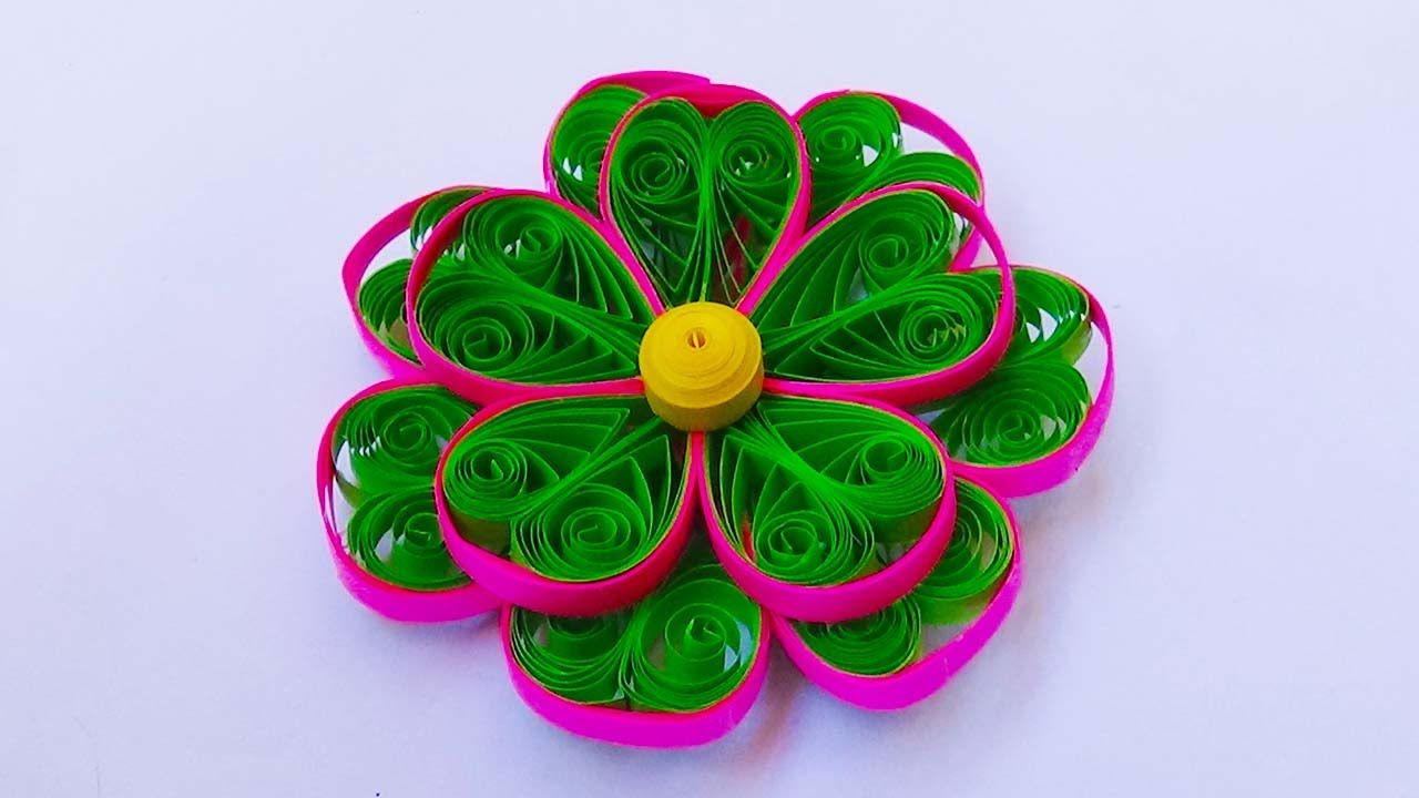 Paper Quilling 3 Color 3d Quilling Flower Tutorial Quilling