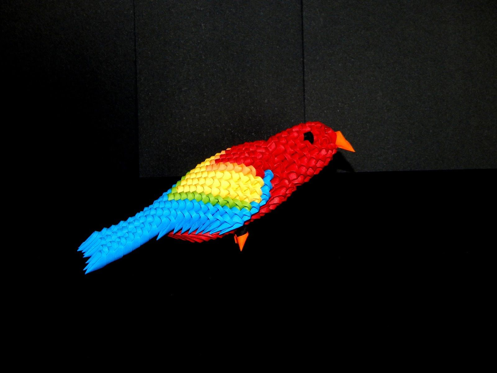 3D Origami Parrot (macaw) tutorial (instructions) part1 ... - photo#2