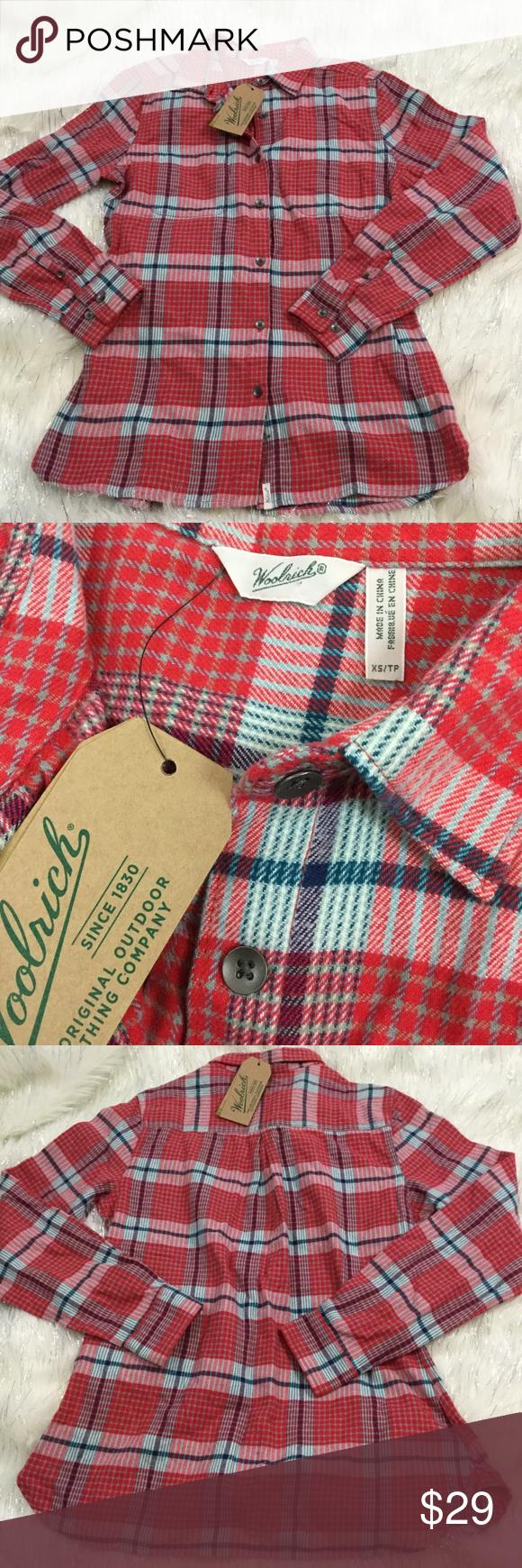 Flannel shirt xs  Woolrich plaid flannel shirt  Plaid flannel Flannel shirts and