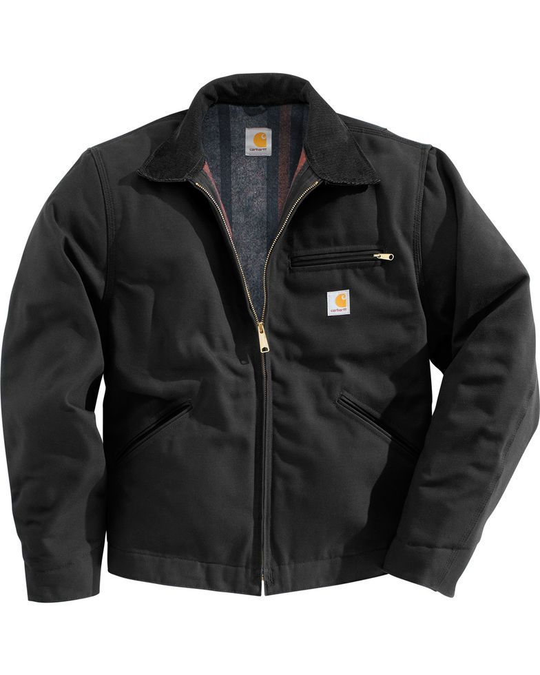 Carhartt Men's Duck Detroit Blanket Lined Canvas Jacket
