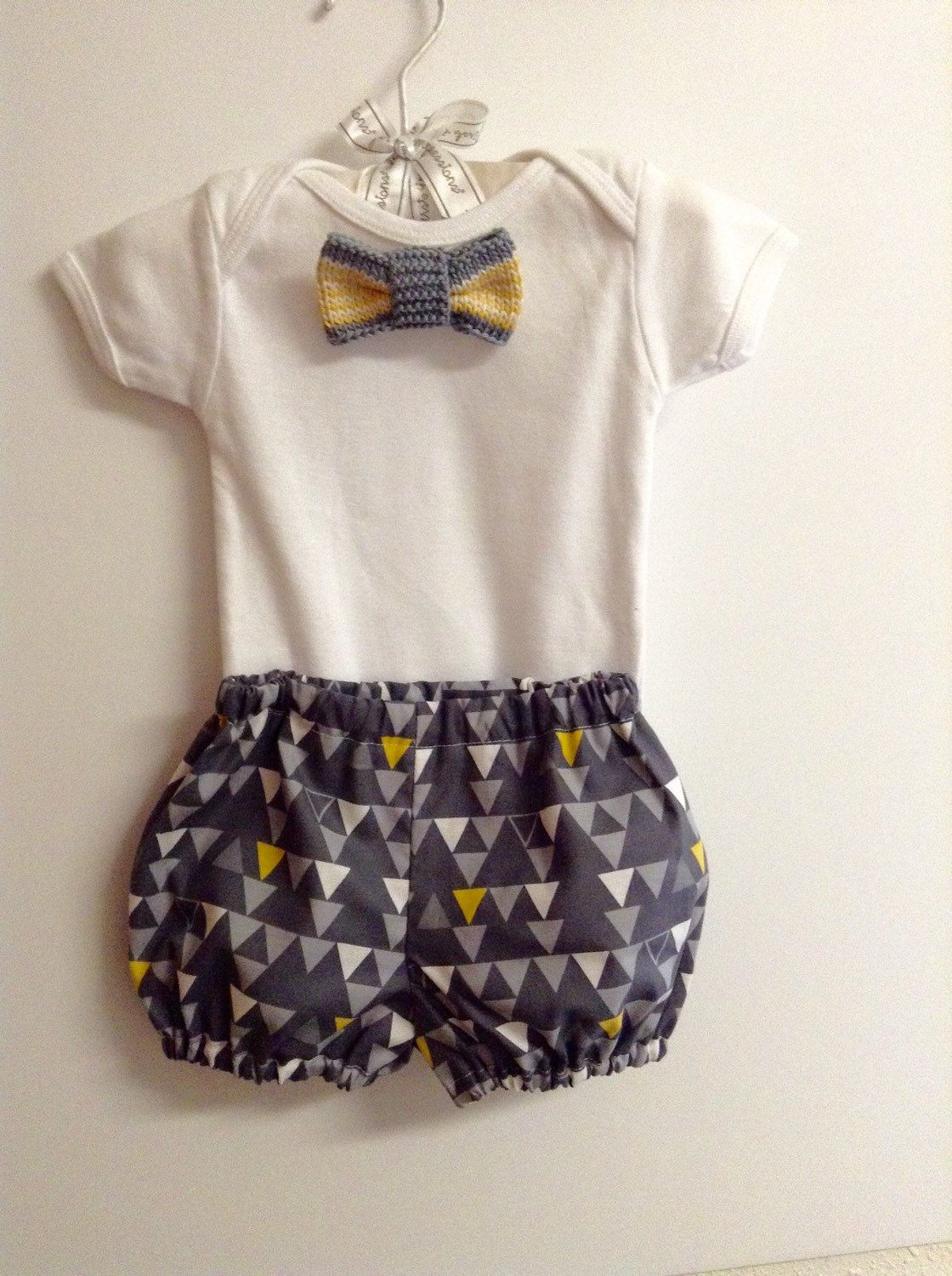 08a1754d9d52 0-3 Months bow tie bodysuit preppy shorts set baby boy Dress Up Hand ...