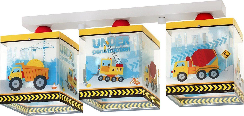 constructor deckenlampe für das kinderzimmer kleiner bauarbeiter