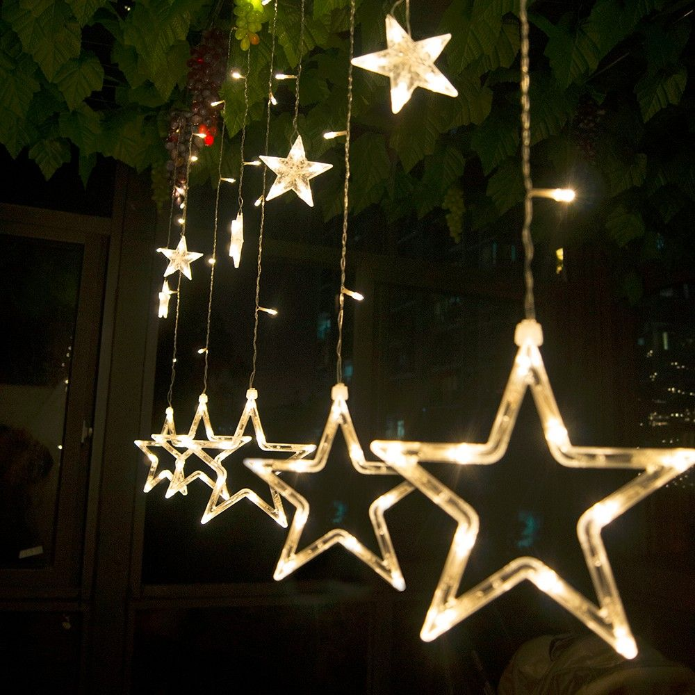 Led Christmas Lights Ac 220v Led Star Curtain Light Holiday Lights