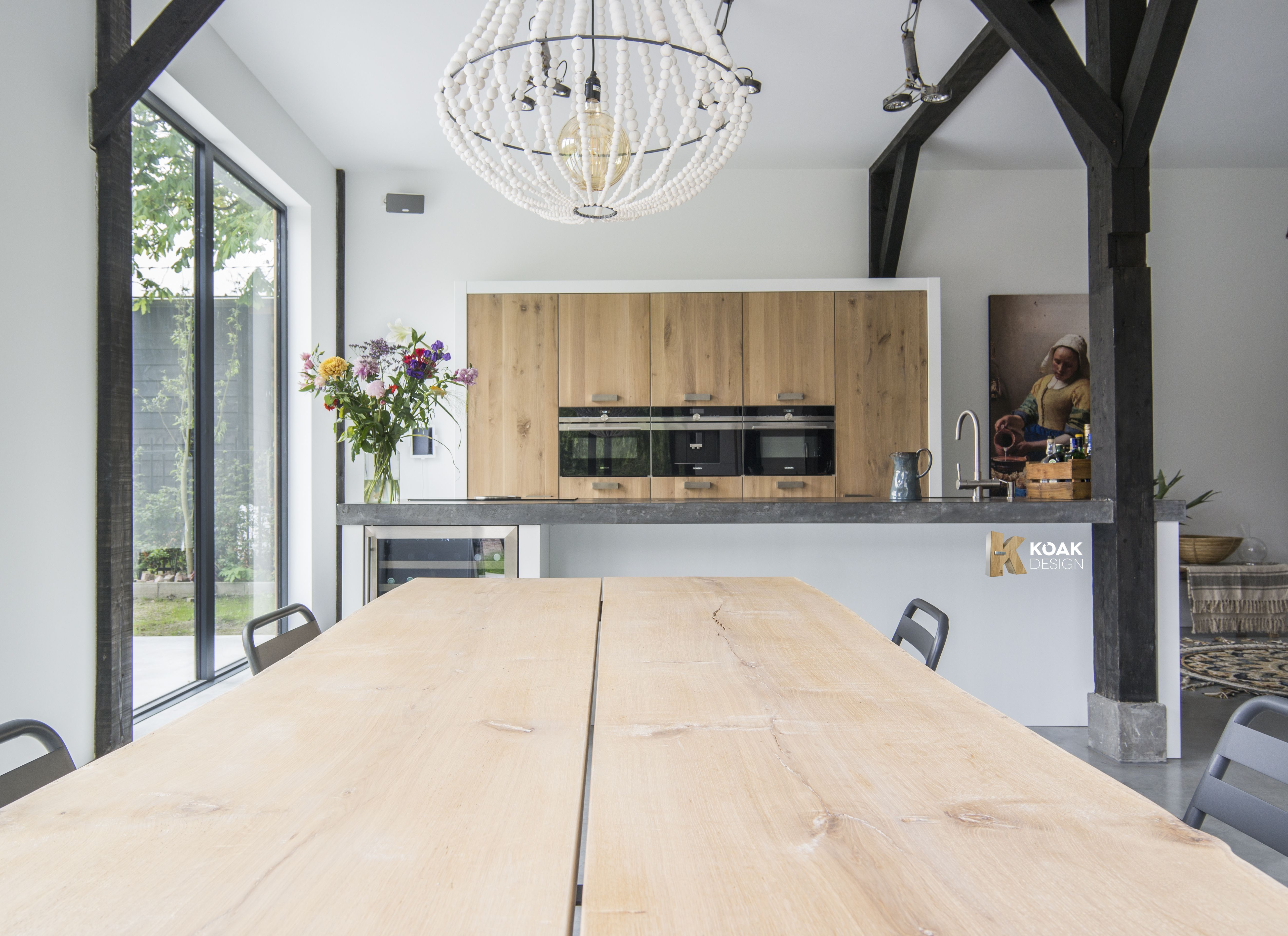 Tree Trunk Table In A Koak Design Kitchen With Koak Design You Can