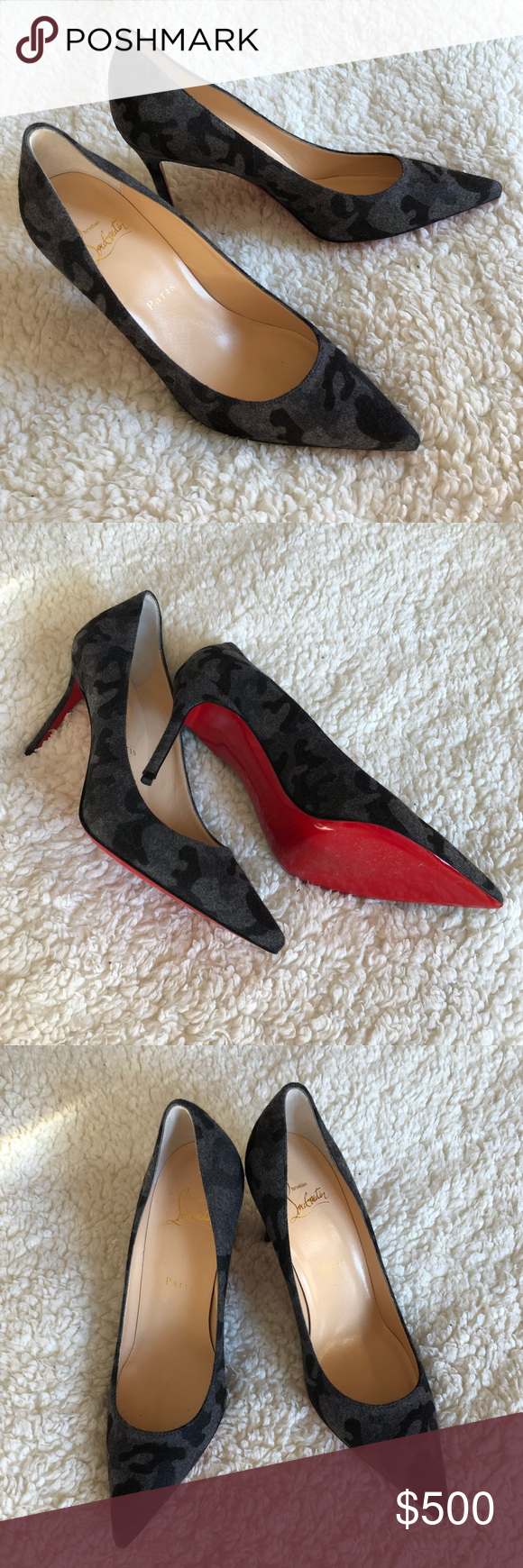 sports shoes cebda 1c2e7 CHRISTIAN LOUBOUTIN Décolleté 554 85mm size 37.5 AUTHENTIC ...