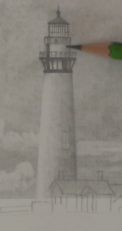Free drawing lesson - How to Draw a Lighthouse — Online Art Lessons ...