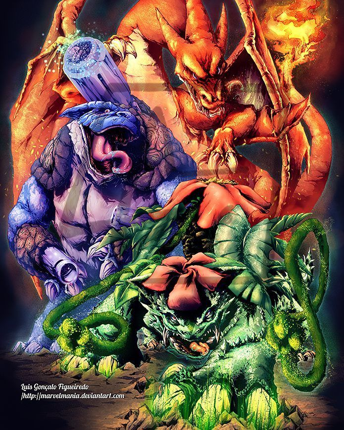 "#Gen 1 Starters"" By MarvelMania"