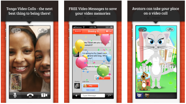 Tango App Gets Avatars, Video Filters, Read Receipts