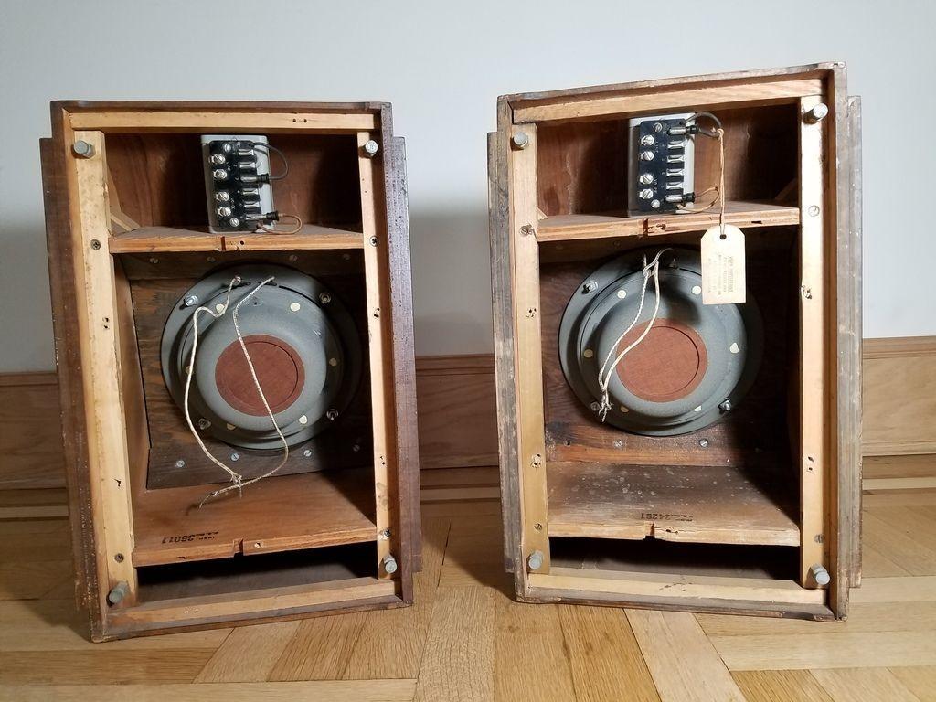 Western Electric 755a Speaker Pair In Original Cabinets W