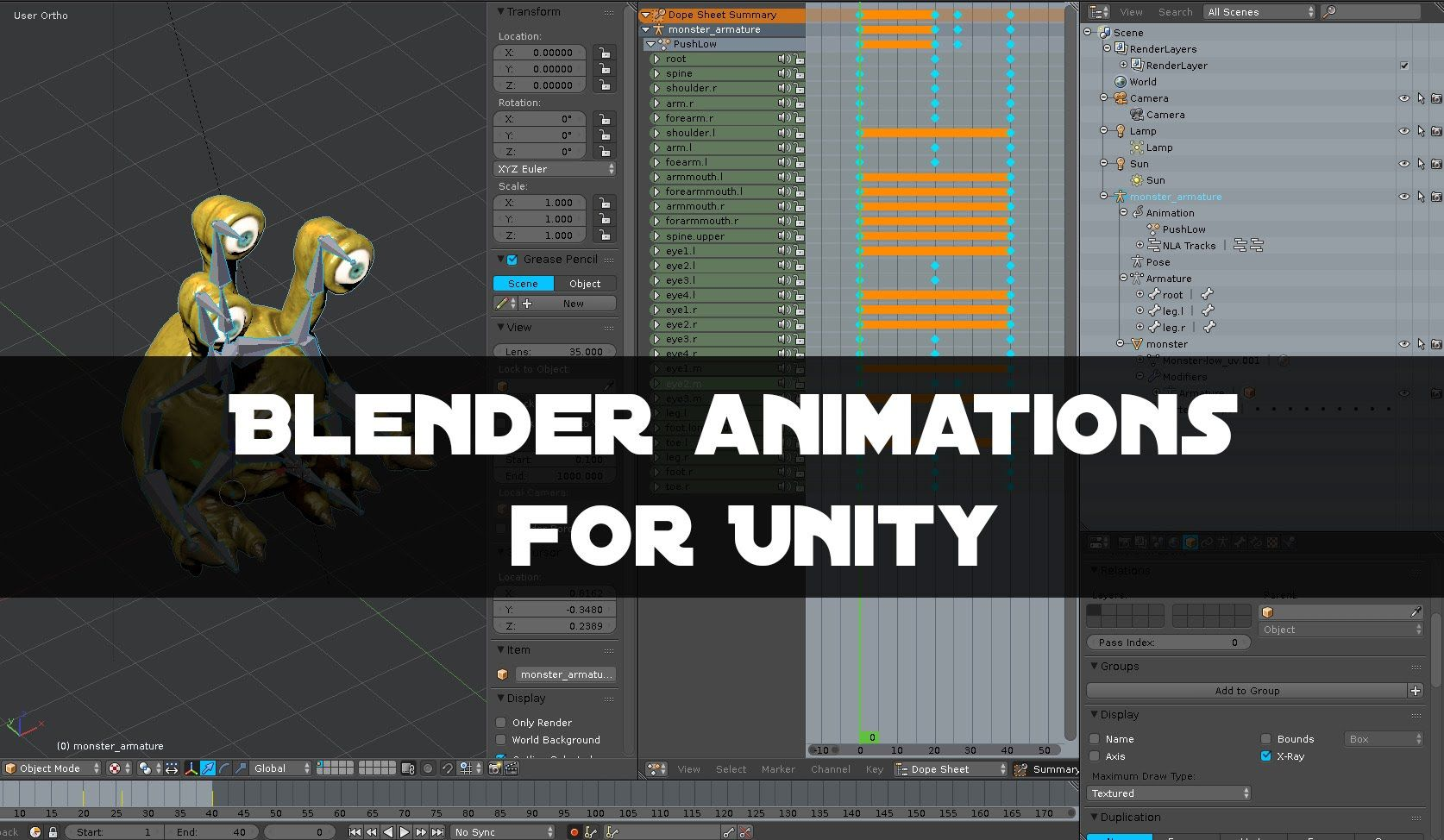 Blender Animations Unity Import Tutorial