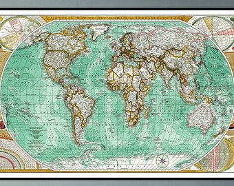Map of the world vintage map of the world world map poster map of the world vintage map of the world world map poster large world map poster gumiabroncs Images