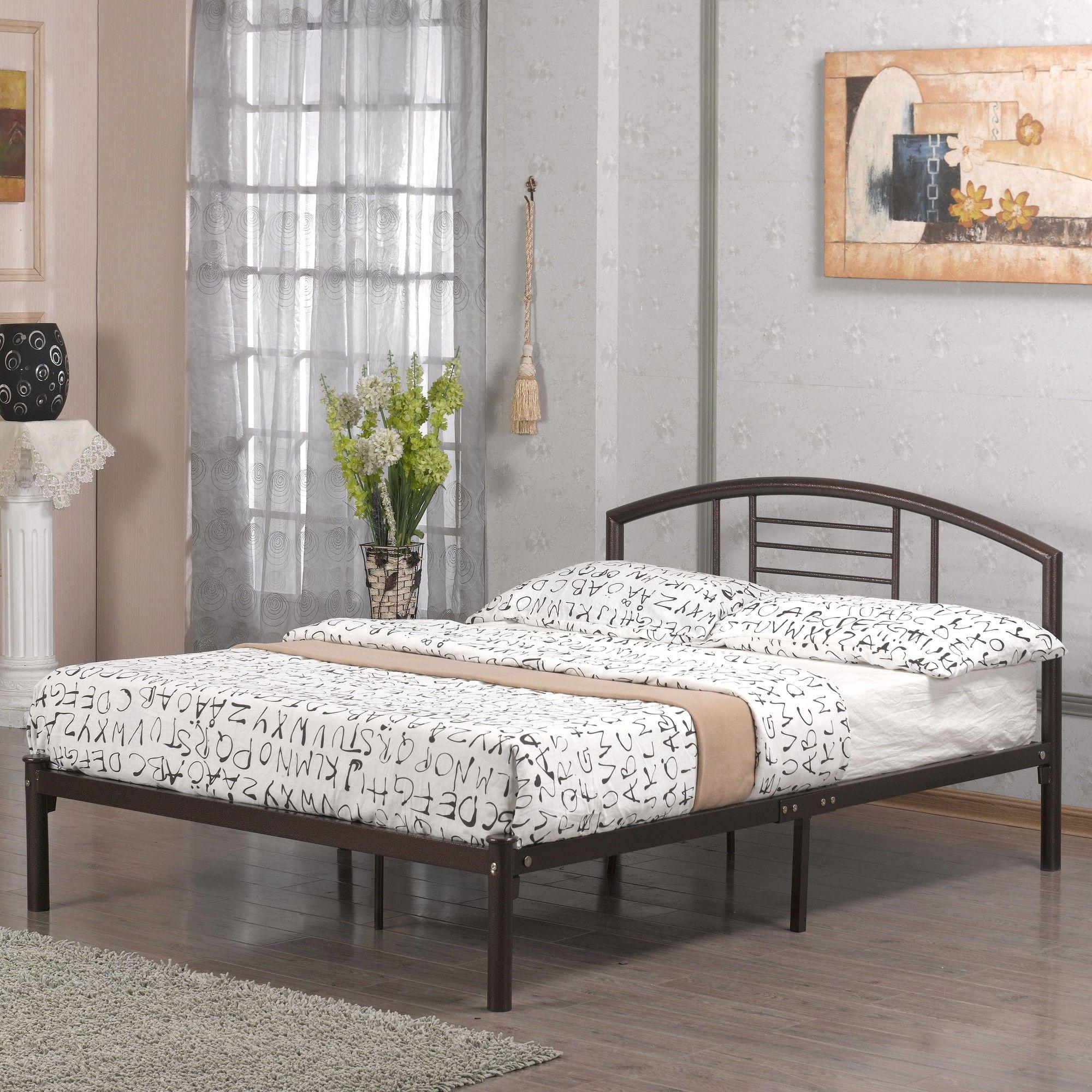 Alanna Standard Bed Metal platform bed, Bed frame
