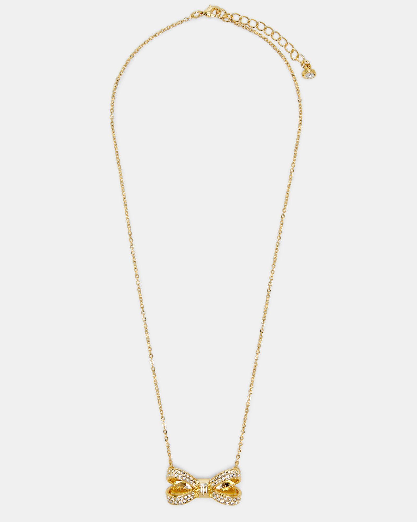 cec1e41da Ted Baker Swarovski® crystal bow necklace Gold | lady loves in 2019 ...