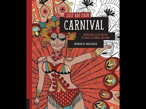 Flip Through Just Add Color Carnival Coloring Book By Sarah Walsh