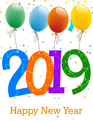 Happy New Year 2019 Clipart Gif Animated Images For Kids