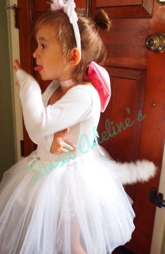 Aristocats Marie Tutu Costume with Fluffy Posable Tail Princess - princess halloween costume ideas