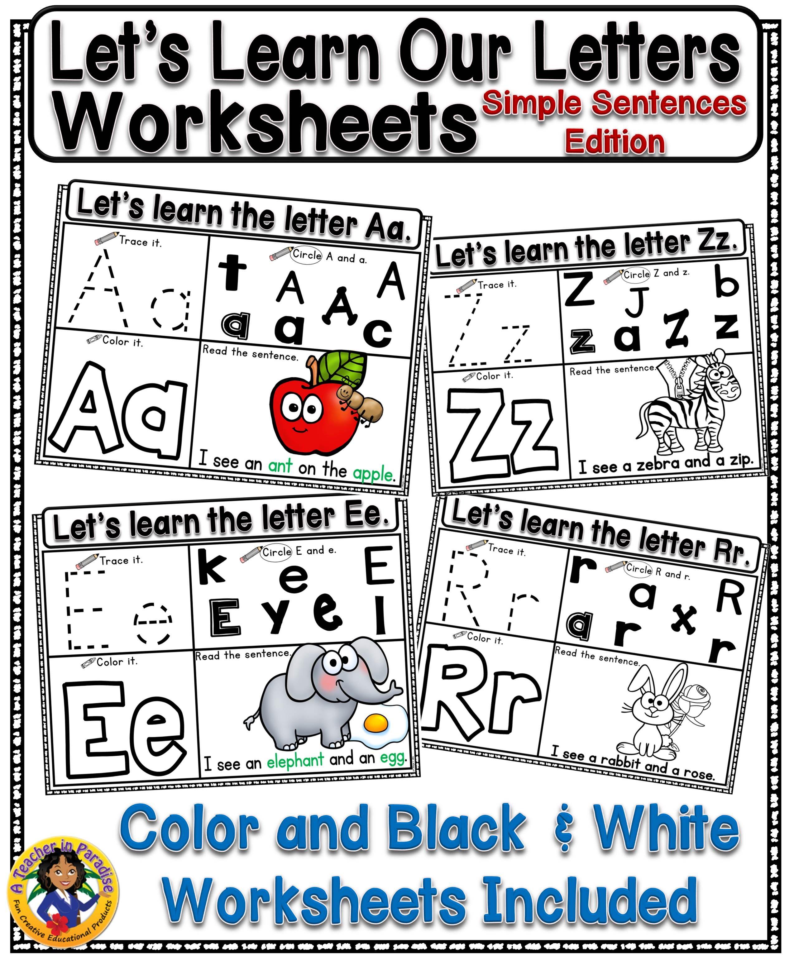 Let S Learn Our Letters Simple Sentences Edition