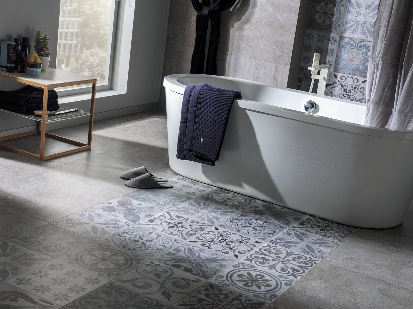 Allways cabin contemporary bathroom perth by ceramo tiles - Porcelanosa Antique Silver Patterned Feature Tile Available At Ceramo