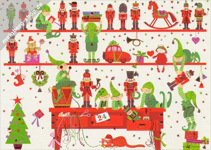 Blechschild Weihnachten Deko Weihnachtsmann Geschenkliste Katze Metallschild