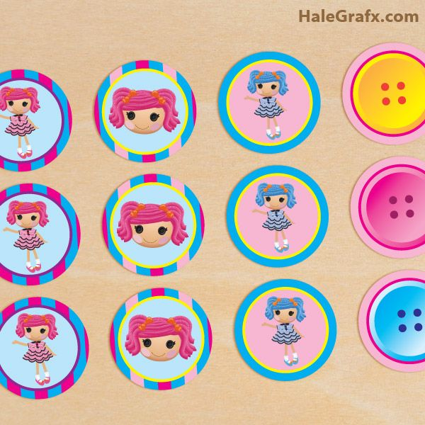 FREE Printable Lalaloopsy Cupcake Toppers | Kid\'s Birthday ...