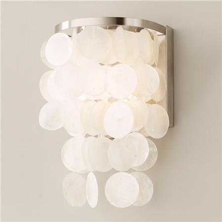 Modern Capiz Shell Small Wall Sconce  Wall Sconces Modern And Walls Magnificent Small Wall Sconces For Bathroom 2018