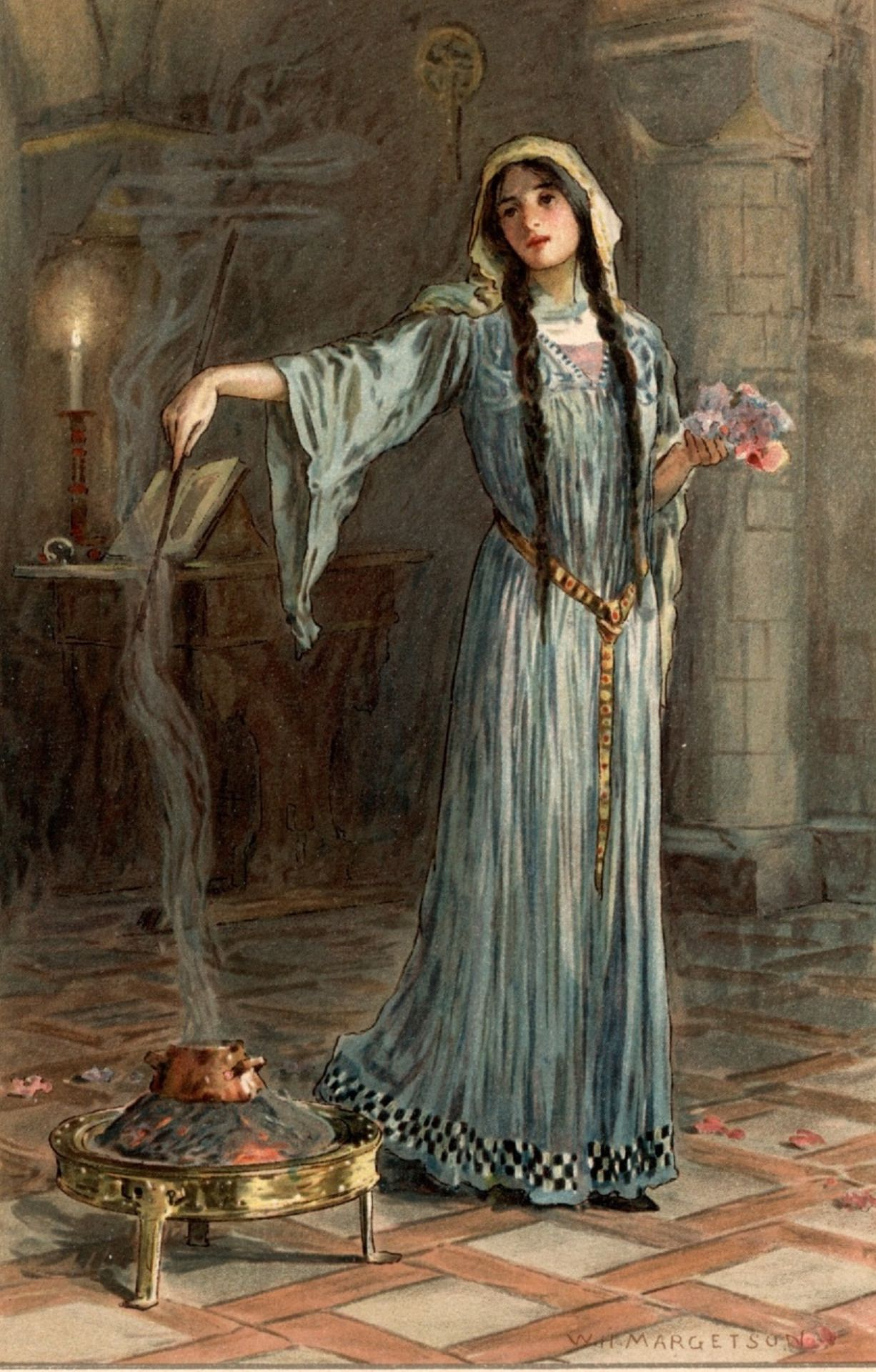 W H Margetson Morgan Le Fay Art Pinterest Figure