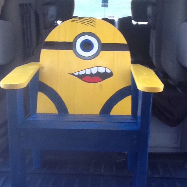 Minion Chair Crafts Wooden Lawn Chairs Pallet Chair