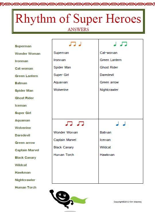 RHYTHM: 12 RHYTHM Worksheets | See best ideas about Worksheets