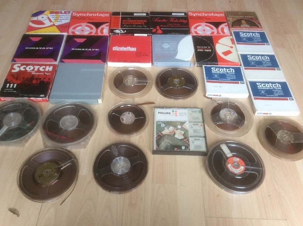 """Magnetic Tape (Reel to Reel) Bundle of 28 Long Play  7"""" Reels inc Splicing Kit"""
