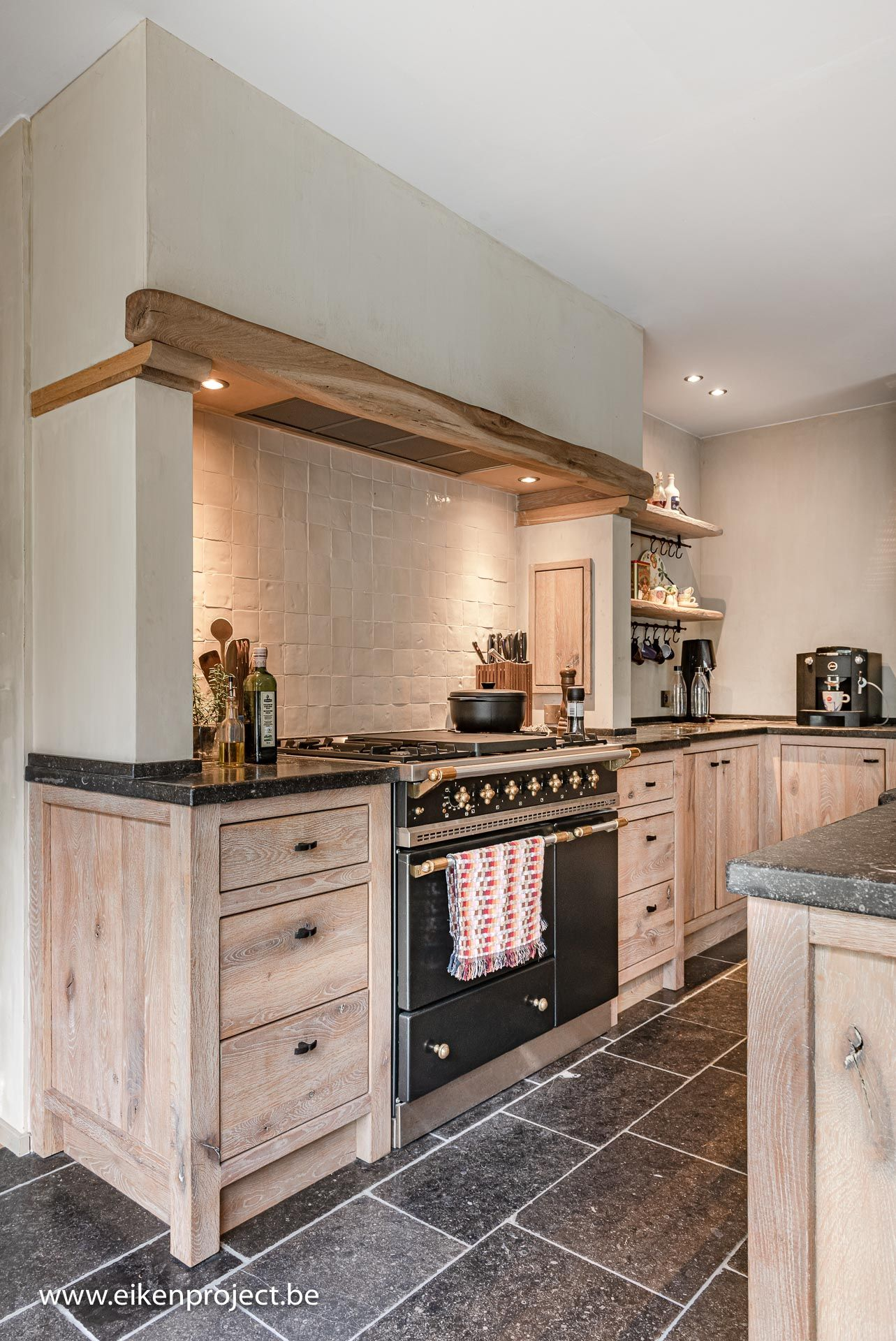 Landelijke Eiken Keuken Design De Cuisine Rustique Cuisine Moderne Decoration Interieur Maison