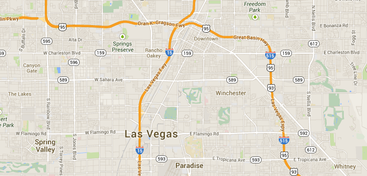 TaxiFareFinder - $19.15 taxi fare from Fremont Street Experience, Las Vegas, NV, United States to 4455 Paradise Rd, Las Vegas, NV, United St...