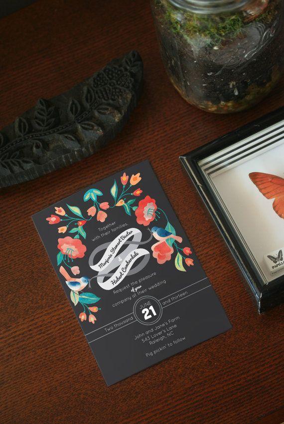 Custom Bluebird Wedding Invite  Design Fee by QueridaStudio, $50.00