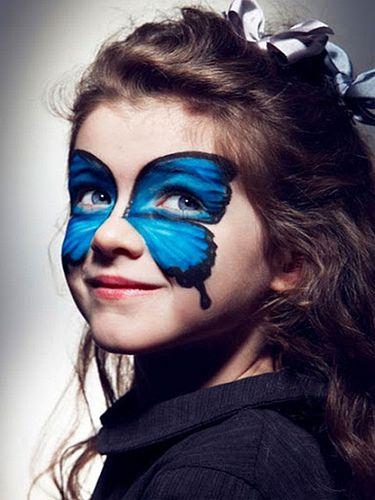Halloween Makeup Ideas Kids Girl Blue Butterfly Halloween Makeup For Kids Butterfly Makeup Halloween Makeup Diy