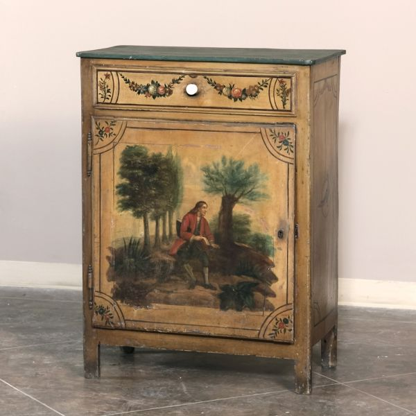 Antique Painted Furniture | 19th Century Painted French Confiturier | www.inessa.com