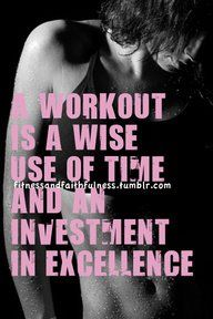 A workout is an investment