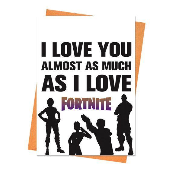 Funny Birthday Card Fortnite Boyfriend Husband