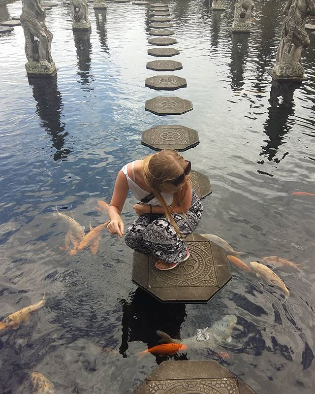 В храме #tirtagangga много рыбок, две купельни, вот такие бассейны с рыбками, где можно походить покормить рыбок 🐡🐡🐡 Также,  много скульптур богам и другие мистические существа 🗿🗿🗿 Нам очень нравятся балийские храмы, в них есть неповторимый колорит, мистический дух и прекрасные люди 🌸🌺🌹 Обязательно стоит путешествовать по Бали, открывать что то новое, Бали - это не пляжный отдых, а активный 😉 Подписывайтесь 📰 на наш youtube 📹 канал, ставьте 👍#bali #бали #путешествие #храм #вода…
