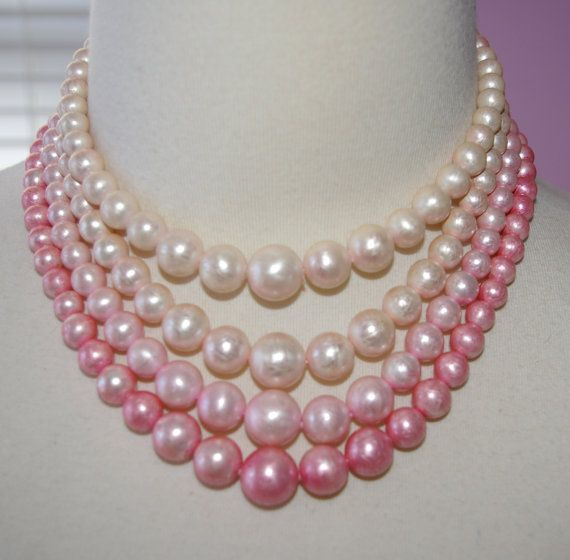 White Lingerie Pearl Necklace