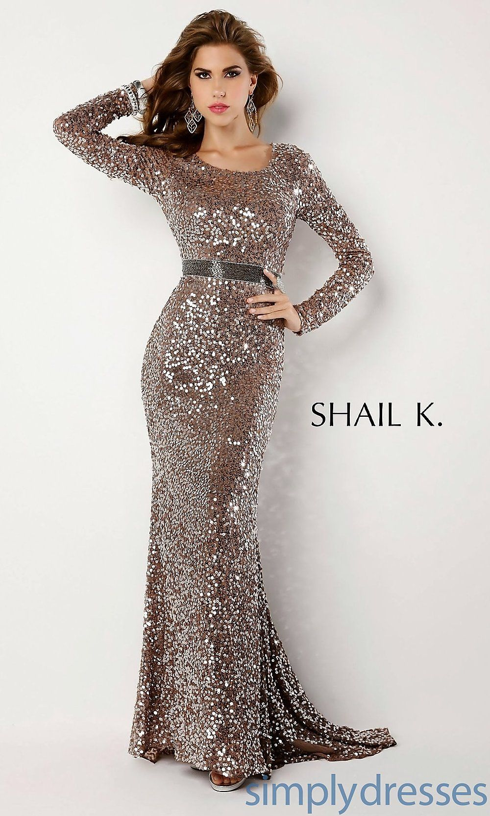 Long Sequins Prom Dress | Prom Dresses | Pinterest | Sequin prom ...