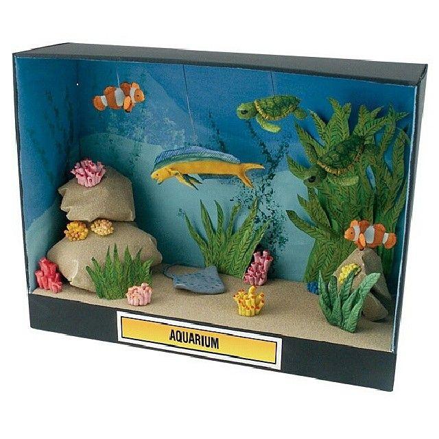أفكار مشاريع إعادة تدوير المواطن الطبيعية منتدى ياكويت Diorama Kids Ocean Diorama Habitats Projects
