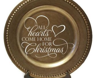 Christmas Charger Plates Decorative Plate Customized Charger Plate  sc 1 st  Pinterest & Christmas Charger Plates Decorative Plate Customized Charger Plate ...