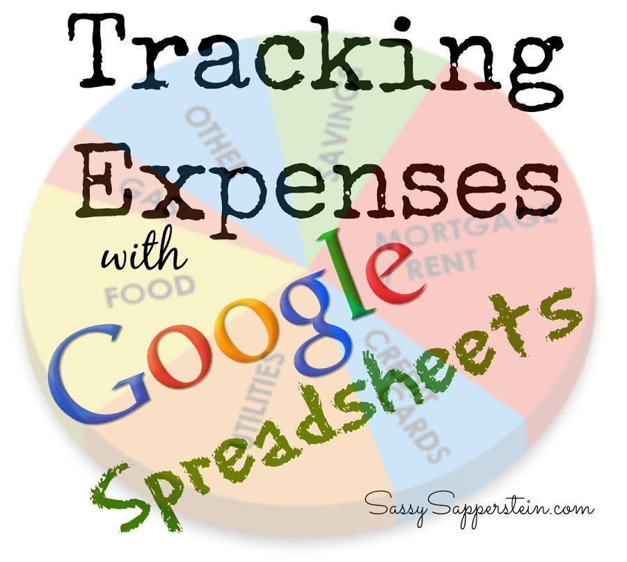 Tracking Expenses with Google Spreadsheets Household stuff Pinterest