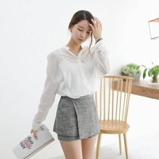 Buy 'MELT – Wrap-Front Skort' with Free International Shipping at YesStyle.com. Browse and shop for thousands of Asian fashion items from South Korea and more!